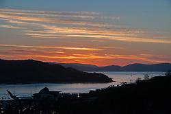 Sunset Over Yacht Club, Hamilton Island, Queensland, Australia