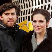 NLD/Amsterdam/20120211 - Premiere Tony 10, Anna Drijver en parter Benja Bruijning