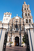 The Metropolitan Cathedral of Our Lady of Monterrey or Catedral Metropolitana de Monterrey on the Macroplaza in the Barrio Antiguo neighborhood of Monterrey, Nuevo Leon, Mexico. The Baroque structure was built between 1705 and 1791 and is home to the Archdiocese of Monterrey.