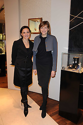 Left to right, TATIANA ANATOLY and the COUNTESS OF WOOLTON at a party for TACH jewellery held at Tach, 13 Grafton Street, London on 10th December 2009.