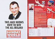 All Ireland Senior Hurling Championship Final,.03.09.2006, 09.03.2006, 3rd September 2006,.Senior Kilkenny 1-16, Cork 1-13,.Minor Tipperary 2-18, Galway 2-7.3092006AISHCF,.The Sunday world, .Cork captain, Pat Mulcahy,