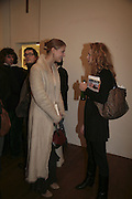 Lady Gabriella Windsor and Charlotte O'Sullivan, Misadventure In the Middle East. Travels As a Tramp, Artist and Spy by Henry Hemming. Book launch and exhibition. Paradise Row. London. E2.  -DO NOT ARCHIVE-© Copyright Photograph by Dafydd Jones. 248 Clapham Rd. London SW9 0PZ. Tel 0207 820 0771. www.dafjones.com.