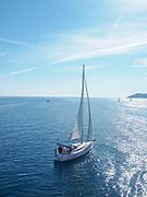 Yacht at Samothrace Island, Greece