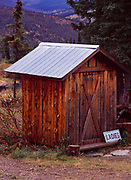 Women's outhouse, Top of the World Lodge, Talyor Highway, Boundary, Alaska.