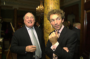 Anthony Oppenheimer and John Francombe. The Spencer House draw in aid of the Countryside Alliance. 28 November 2000. © Copyright Photograph by Dafydd Jones 66 Stockwell Park Rd. London SW9 0DA Tel 020 7733 0108 www.dafjones.com