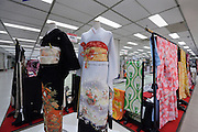 kimono display in department store in Japan