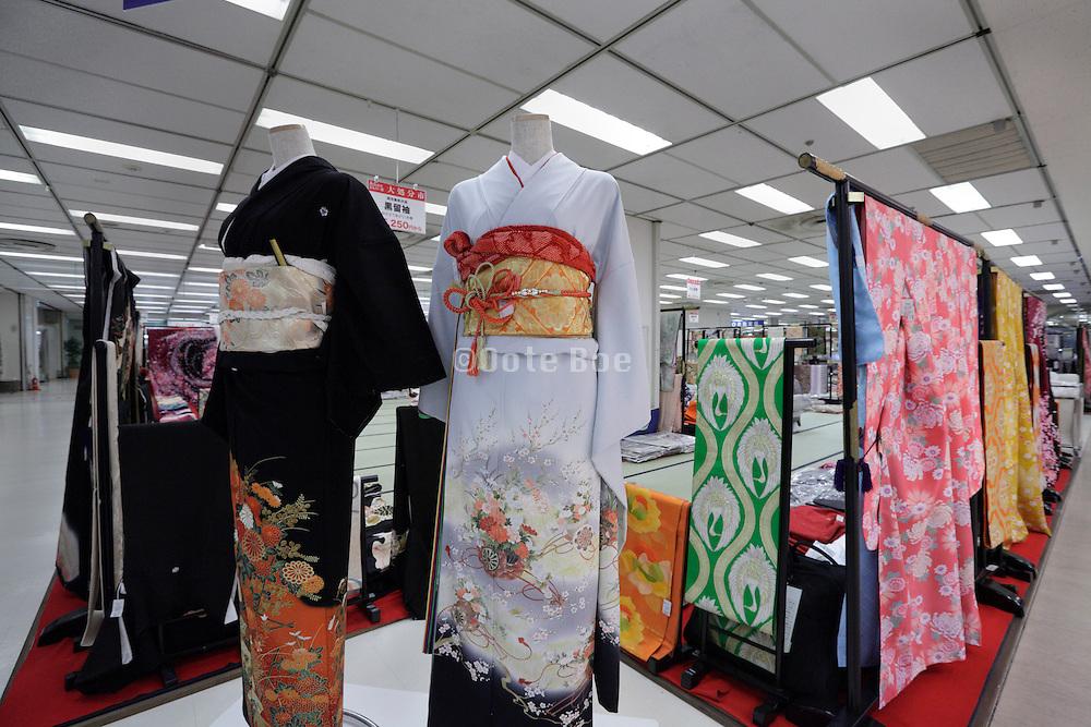 kimono display in department store in Japan