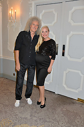 BRIAN MAY and KERRY ELLIS at the David Shepherd Wildlife Foundation Wildlife Ball at The Dorchester, Park Lane, London on 9th October 2015.
