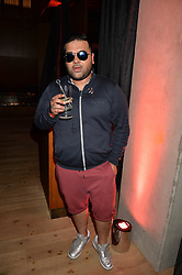 Naughty Boy at the Warner Music Group and British GQ Summer Party in partnership with Quintessentially held at Nobu Shoreditch, Willow StreetLondon England. 5 July 2017.<br /> Photo by Dominic O'Neill/SilverHub 0203 174 1069 sales@silverhubmedia.com