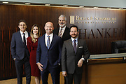 SHOT 1/8/19 12:12:57 PM - Bachus & Schanker LLC lawyers James Olsen, Maaren Johnson, J. Kyle Bachus, Darin Schanker and Andrew Quisenberry in their downtown Denver, Co. offices. The law firm specializes in car accidents, personal injury cases, consumer rights, class action suits and much more. (Photo by Marc Piscotty / © 2018)