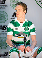 04/05/15   <br /> CELTIC PARK - GLASGOW <br /> Celtic's Stefan Johansen unveils his side's new home kit from New Balance for the 2015/2016 Season.