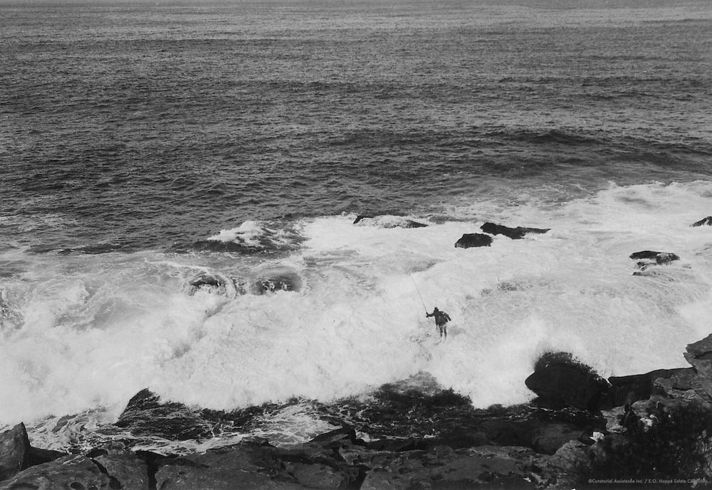 Fishing, Bondi Beach, Sydney, Australia, 1930