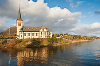Vågan Church - Lofoten Cathedral, Kabelvåg, Austvågøy, Lofoten Islands, Norway