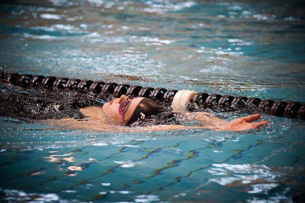 Mary Fisher, swim training at Kilbirne Aquatic Center2011. Photo by Mark Tantrum