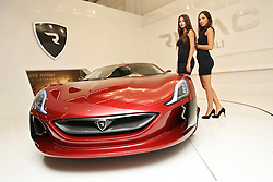 13.09.2011, Messehalle, Frankfurt, GER, IAA Frankfurt, im BIld  Mate Rimac, a young inventor from Sveta Nedjelja, revealed at the International Motor Show in Frankfurt, a prototype of electric supercar Concept One. Rimac Concept One is a sporty two-seater with four electric motors total output of 1088 hp, seats up to 100 km / h rushes for 2.8 seconds while top speed is limited to 305 km / h. Rimac plans to produce 10 to 15 cars starting from the 2013th year and price will be about 400,000 euros. EXPA Pictures © 2011, PhotoCredit: EXPA/ nph/ Pixsell +++++ ATTENTION - OUT OF GERMANY/(GER), CROATIA/(CRO), BELGIAN/(BEL) +++++