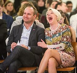 15.02.2014, Museumsquartier, Wien, AUT, NEOS, Nominierungskonvent fuer die EU-Wahlen. im Bild v.l.n.r. Klubobmann NEOS Matthias Strolz und Nationalratsabgeordnete NEOS Angelika Mlinar // f.l.t.r. Leader of the Parliamentary Group NEOS Matthias Strolz and Member of Parliament NEOS Angelika Mlinar during nominationkonvent of NEOS EU election at Museumsquartier in Vienna, Austria on 2014/02/15. EXPA Pictures © 2014, PhotoCredit: EXPA/ Michael Gruber