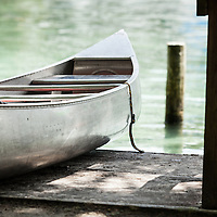 Canoe docked at Silver Glen Springs, Ocala, FL