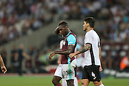 Michail Antonio of West Ham United looks dejected after missing a chance to score. UEFA Europa league, 1st play off round match, 2nd leg, West Ham Utd v Astra Giurgiu at the London Stadium, Queen Elizabeth Olympic Park in London on Thursday 25th August 2016.<br /> pic by John Patrick Fletcher, Andrew Orchard sports photography.