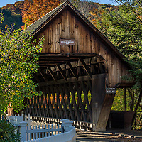 Middle Covered Bridge, Woodstock Vermont during foliage season. All Content is Copyright of Kathie Fife Photography. Downloading, copying and using images without permission is a violation of Copyright.