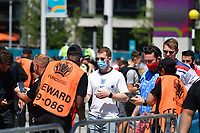 Football - 2021 EUFA European Championships - Finals - Group D - England vs Croatia, Wembley Stadium<br /> <br /> Fans having COVID test checks before the game.<br /> <br /> COLORSPORT/ASHLEY WESTERN