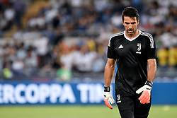 August 13, 2017 - Rome, Italy - Gianluigi Buffon of Juventus during the Italian Supercup Final match between Juventus and Lazio at Stadio Olimpico, Rome, Italy on 13 August 2017. (Credit Image: © Giuseppe Maffia/NurPhoto via ZUMA Press)
