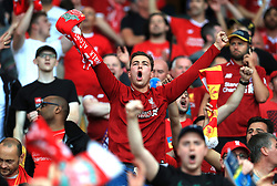 Liverpool fans in the stands show their support prior to the UEFA Champions League Final at the NSK Olimpiyskiy Stadium, Kiev.