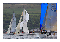 Savills Kip Regatta 2011, the opening regatta of the Scottish Yachting Circuit, held on the Clyde...Troikka, GBR1037L, Elan 37.