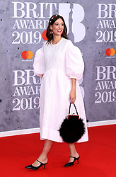 Laura Jackson attending the Brit Awards 2019 at the O2 Arena, London. Photo credit should read: Doug Peters/EMPICS Entertainment. EDITORIAL USE ONLY
