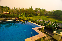 Swimming pool, Four Seasons Resort Chiang Mai, Mae Rim district, near Chiang Mai, Northern Thailand