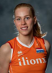 14-05-2019 NED: Photoshoot national volleyball team Women, Arnhem<br /> Demi Korevaar of Netherlands