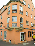 The facade of the Lauterbacher Stuble, Augsburg, Bavaria, Germany