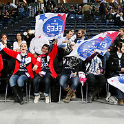 Efes Pilsen's supporters during their Turkish Airlines Euroleague Basketball Top 16 Group G Game 4 match Efes Pilsen between Real Madrid at Sinan Erdem Arena in Istanbul, Turkey, Thursday, February 17, 2011. Photo by TURKPIX