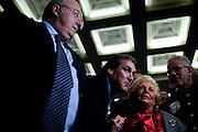 Roberto Menia, Francesco Storace e Assunta Almirante durante il congresso per la rinascita di Alleanza Nazionale<br /> 9 novembre 2013 . Daniele Stefanini /  OneShot
