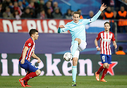 15-03-2016 ESP, UEFA CL, Atletico Madrid - PSV Eindhoven, Madrid<br /> Atletico de Madrid's Lucas Hernandez (l) and PSV Eindhoven's Luuk de Jong // during the UEFA Champions League Round of 16, 2nd Leg match between Atletico Madrid and PSV Eindhoven at the Estadio Vicente Calderon in Madrid, Spain on 2016/03/15. <br /> <br /> ***NETHERLANDS ONLY***