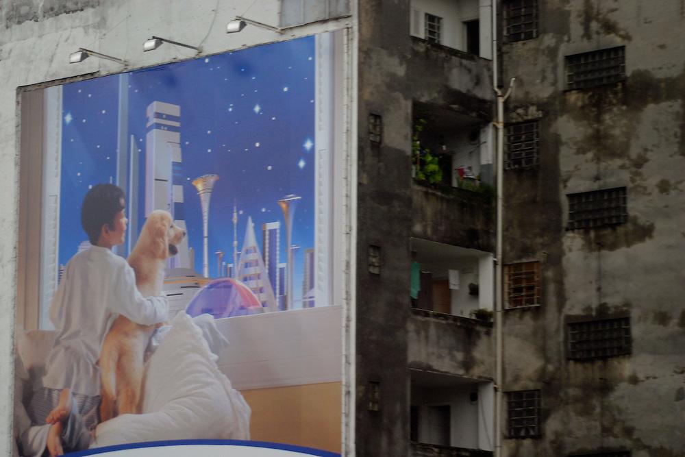 Sao Paulo_SP, Brasil...Detalhe do outdoor em Sao Paulo...A billboard detail in Sao Paulo...Foto: LEO DRUMOND / NITRO