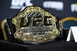 December 27, 2018 - Los Angeles, USA - 181227 UFC-bÅltet under en presskonferens infÅ¡r UFC 232 den 27 december 2018 i Los Angeles  (Credit Image: © Simon HastegRd/Bildbyran via ZUMA Press)