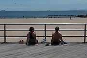 BROOKLYN, NEW YORK-MAY 16, 2020- Visuals of New Yorkers as they make the come-back from the Covid 19 epidemic by heading to Coney Island Beach upon the arrival of the Memorial Day 2020 in Brooklyn, New York.  (Photo by terrence Jennings/terrencejennings.com)