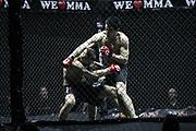Kampfsport: MMA, We love MMA, Oberhausen, 31.01.2015<br /> Jamil Ibragimov (Fight Center Siegen, r.) - Thomas Heber (Grappling-Society Bocholt)<br /> © Torsten Helmke