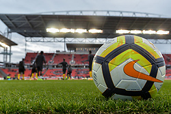 September 3, 2017 - Toronto, Canada - Golden Cup ball on the field before the Canada-Jamaica Men's International Friendly match at BMO Field in Toronto, Canada, on 2 September 2017. (Credit Image: © Anatoliy Cherkasov/NurPhoto via ZUMA Press)
