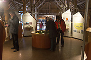 Inside museum barn building at Avebury, Wiltshire, England, UK