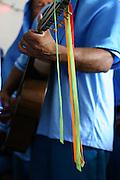 Inhauma_MG, Brasil...Folia de Reis em uma casa no Distrito dos Maias em Inhauma, na foto um homem tocando violao...Folia de Reis in a house in the Distrito dos Maias in Inhauma, in this photo a man playing a guitar...Foto: LEO DRUMOND / NITRO