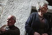 Coppia di anziani orsaresi , Orsara di Puglia 3 Maggio 2014.  Christian Mantuano / OneShot