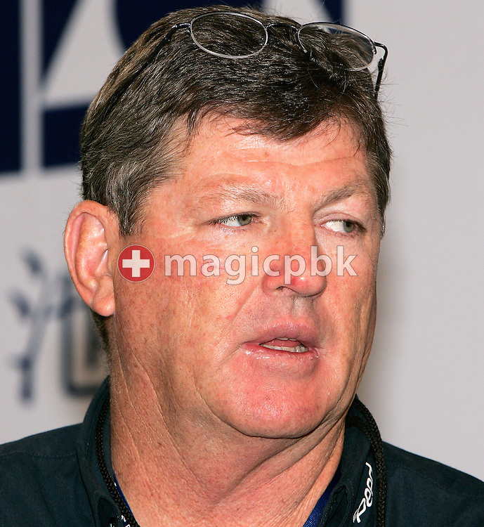 Vince Raleigh from Australia coach of Brenton Rickard  is pictured during day three of the 8th FINA World Swimming Championships (25m) held at Qi Zhong Stadium April 7th, 2006 in Shanghai, China. (Photo by Patrick B. Kraemer / MAGICPBK)
