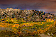 Fall colors in the mountains around Colorado