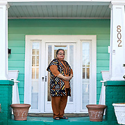 RALEIGH, NC - FEBRUARY 24: Lonnette Williams, a longtime resident of Raleigh, poses for a portrait at her home on Lee Street on February 24, 2019 in Raleigh, NC. (Logan Cyrus for The New York Times)