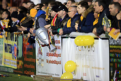 20 February 2017 - The FA Cup - (5th Round) - Sutton United v Arsenal - Dejected Sutton fans look on holding an inflatable trophy - Photo: Marc Atkins / Offside.