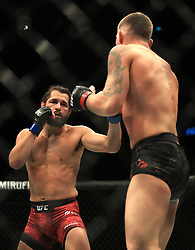 Darren Till (right) and Jorge Masvidal in action during their Welterweight bout during UFC Fight Night 147 at The O2 Arena, London.