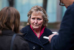 © Licensed to London News Pictures. 29/01/2016. London, UK. ELERI MORGAN, cousin of cult victim Sian Davie, speaking outside Southwark Crown Court in London where  where Maoist cult leader Aravindan Balakrishnan has been sentenced to 23 years in prison  for rape, child cruelty and false imprisonment. Aravindan Balakrishnan was found guilty of the rape of two of his followers and and false imprisonment of  his daughter for more than 30 years in a commune in south London.  Photo credit: Peter Macdiarmid/LNP