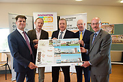 11/07/2017  REPRO FREE:   Dr Rick officer VP for research GMIT, Mr David Lee Head of buildings and Estates GMIT,  Minister of State Pat Breen, Department of Enterprise and Innovation, Barry Egan Enterprise Ireland and Mr George McCourt  Head of innovation GMIT   on a visit to the iHub and GMIT . Photo:Andrew Downes, xposure .