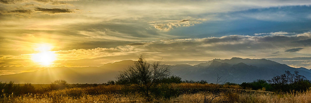 The Catalina Mountains at sunrise